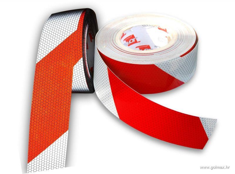 Crveno Bijela LIJEVA reflektirajuća traka