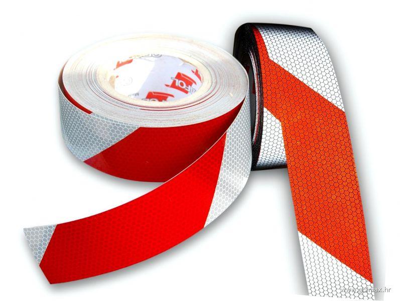 Crveno Bijela DESNA reflektirajuća traka
