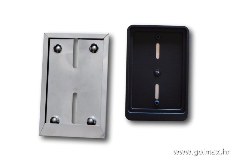 INOX KROM ili CRNI  nosač tablice za skutere