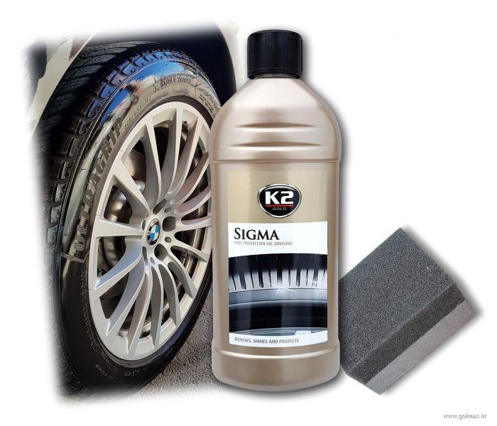 GEL za poliranje i sjaj auto guma 500ml, K2 PROFI serija