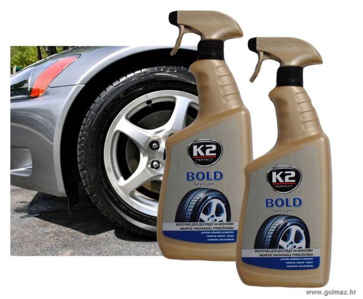Sjaj za auto gume, tekući sprej, 700 ml, K2