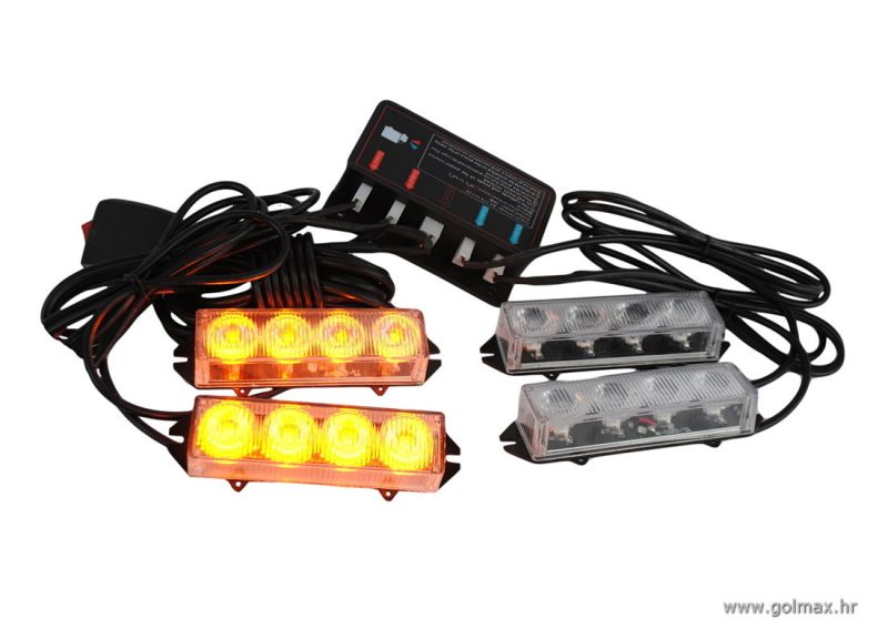 4 LED Flash za masku vozila 12-24V