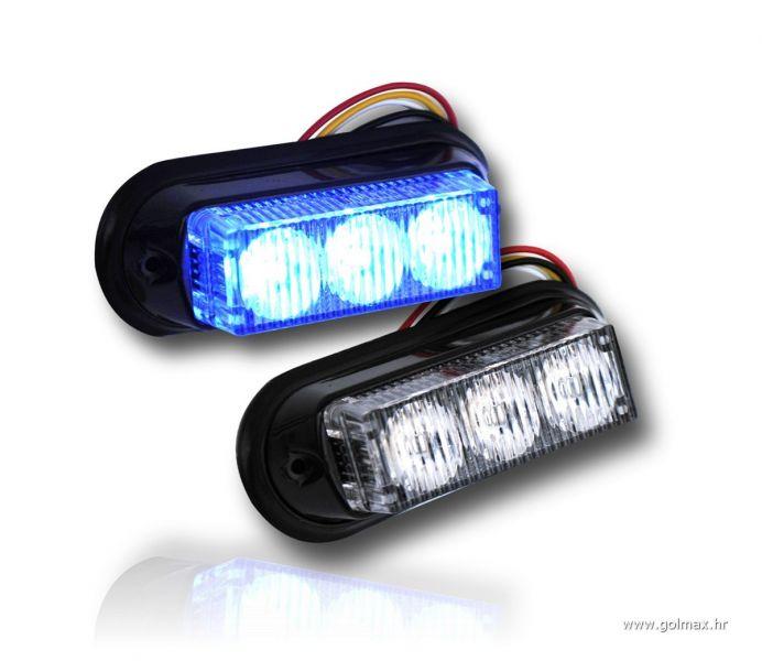 3-LED 9 Watt flash PLAVA za masku *novo*