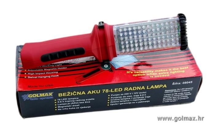 78 LED bežična radna lampa