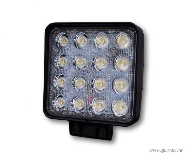 Bijela 16-LED lampa, 48 watt, 12-24V