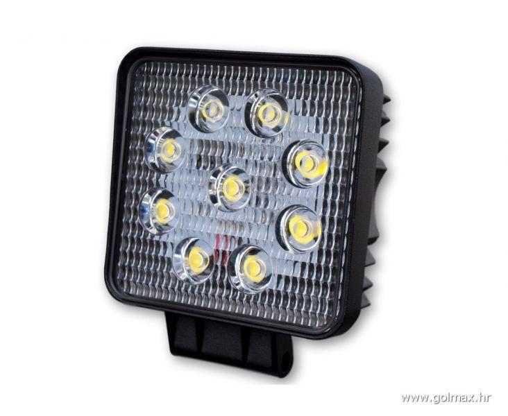 Bijela 9-LED lampa, 27 Watt, 12-24V