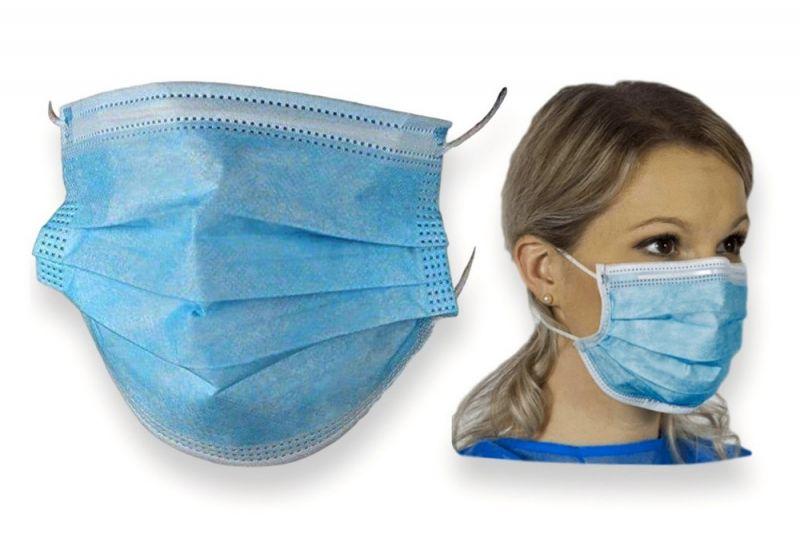 Zaštitna maska troslojna (jednokratna)
