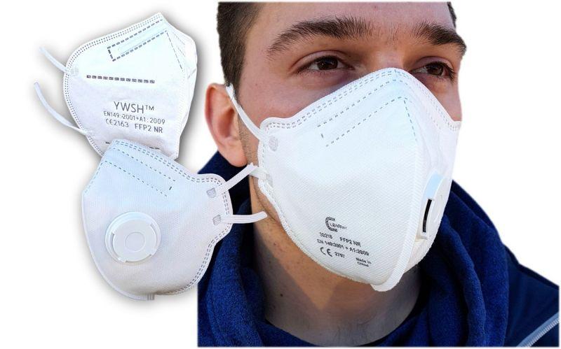Zaštitna maska FFP2 s ventilom, višekratna