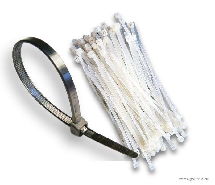 Vezice kablova 10 cm (100 kom) 2,5mm, BIJELE