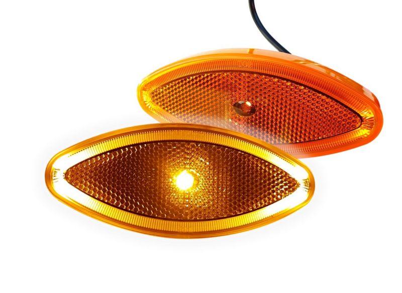 LED žuto zaobljena bočno poz. svjetlo 24V