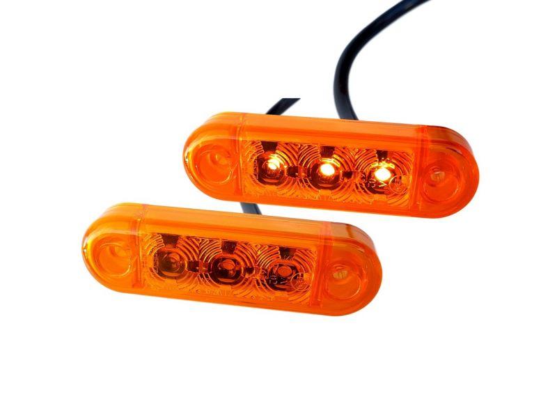 Žuto Pozicijsko svjetlo  3-LED 12/24V 6,50cm  E-homolog.