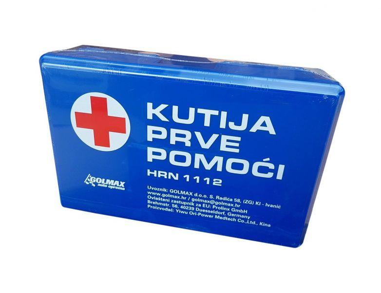 Kutija prve pomoći HRN 1112 (nova zaliha Rok trajanja: 01 mj. 2026.)