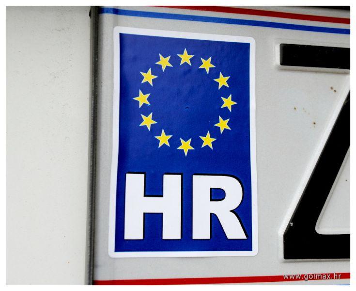 HR naljepnica s EU zvjezdicama 7 x 5 cm