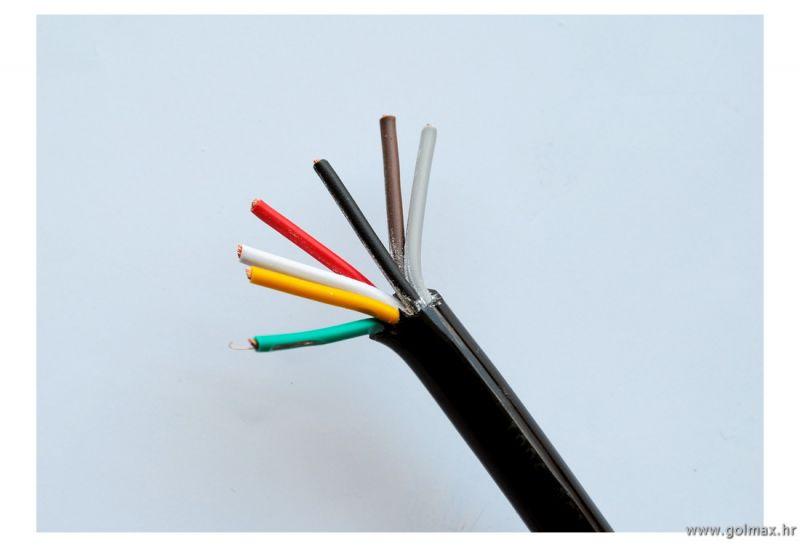 Tanji kabel za prikolicu 7 žilni  1,5 mm