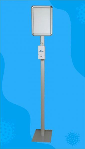 Dezinficijens sa kućištem + stalak 150cm + info panel