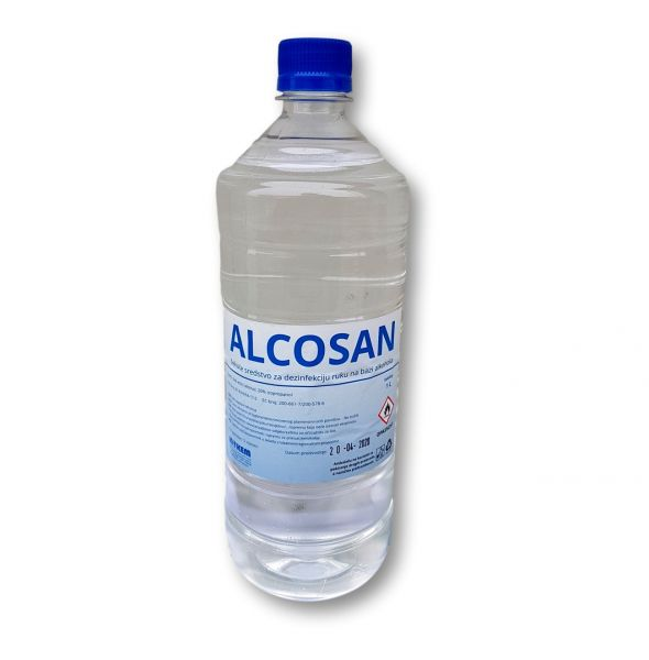 Dezinficijens za ruke 1L refill  (sa čepom) ALCOSAN